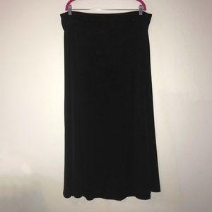 Solid Black Maxi Skirt LuLaRoe 2X EUC Slinky